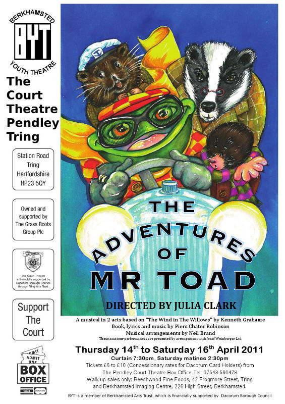 The Adventures of Mr. Toad - April 2011